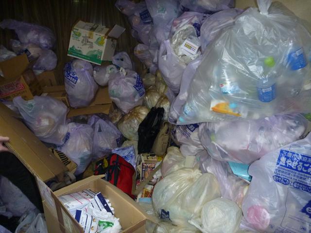 ゴミ袋の山