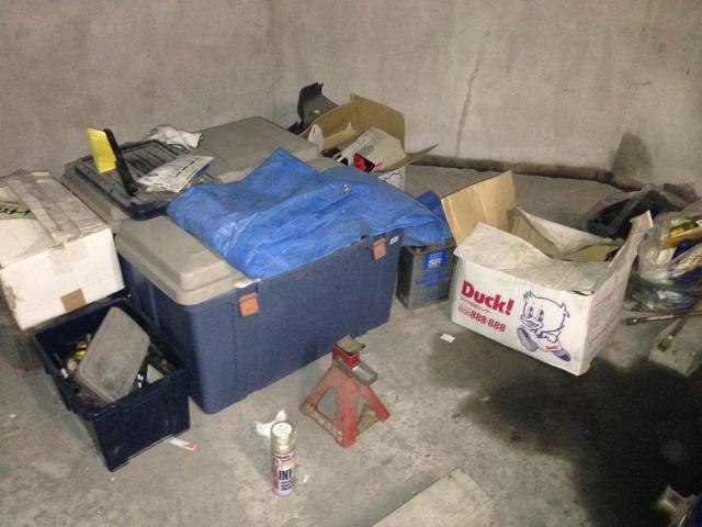 地下の駐車場