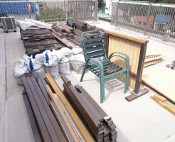 解体後の建設廃材