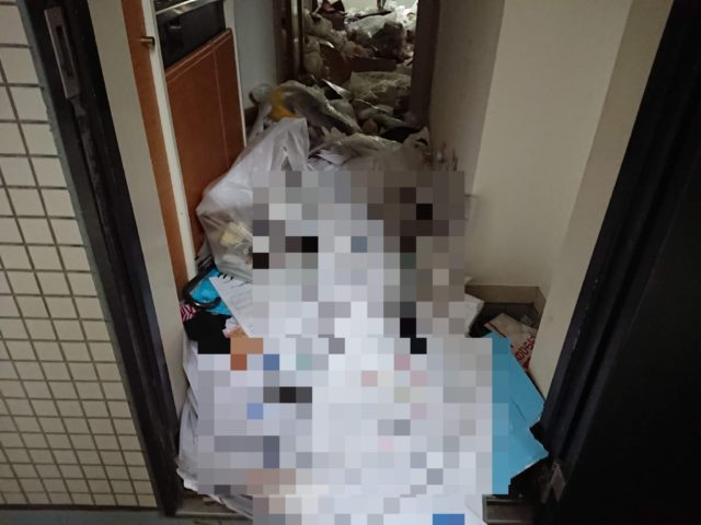 ゴミ屋敷の玄関