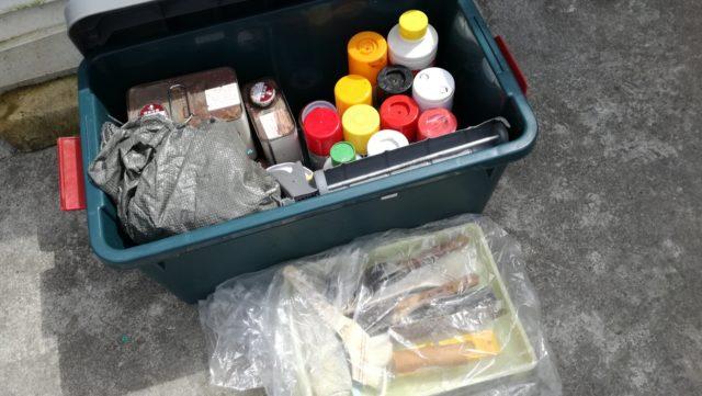 スプレー缶やシンナー