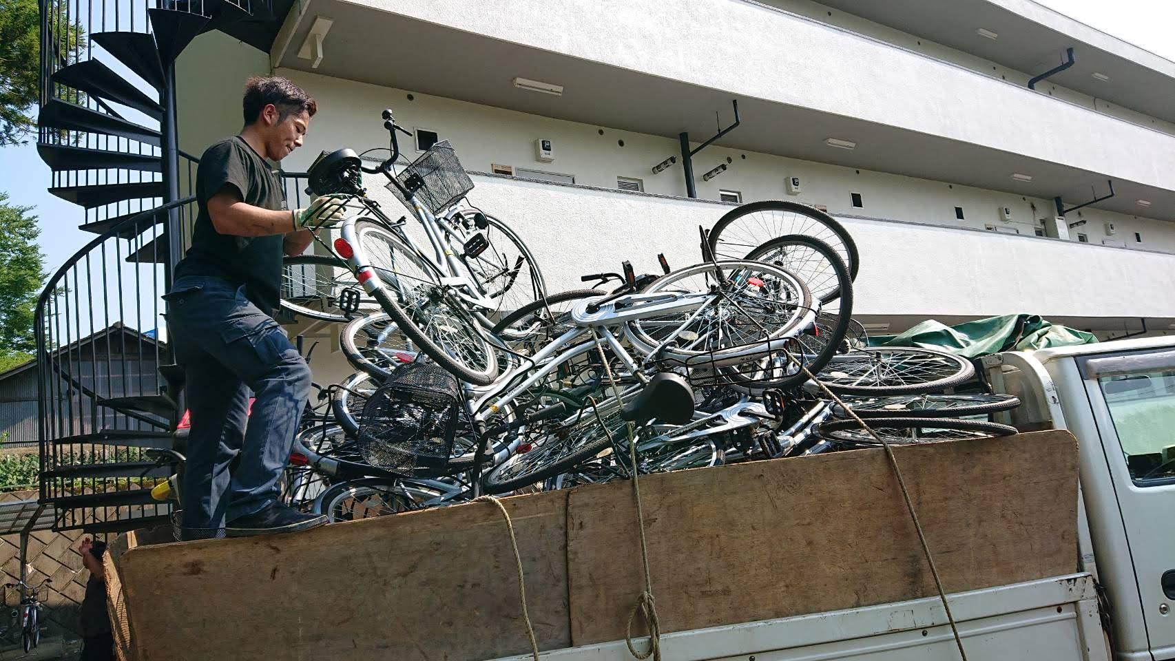 自転車24台を羽村市で無料回収&有料回収してきました!