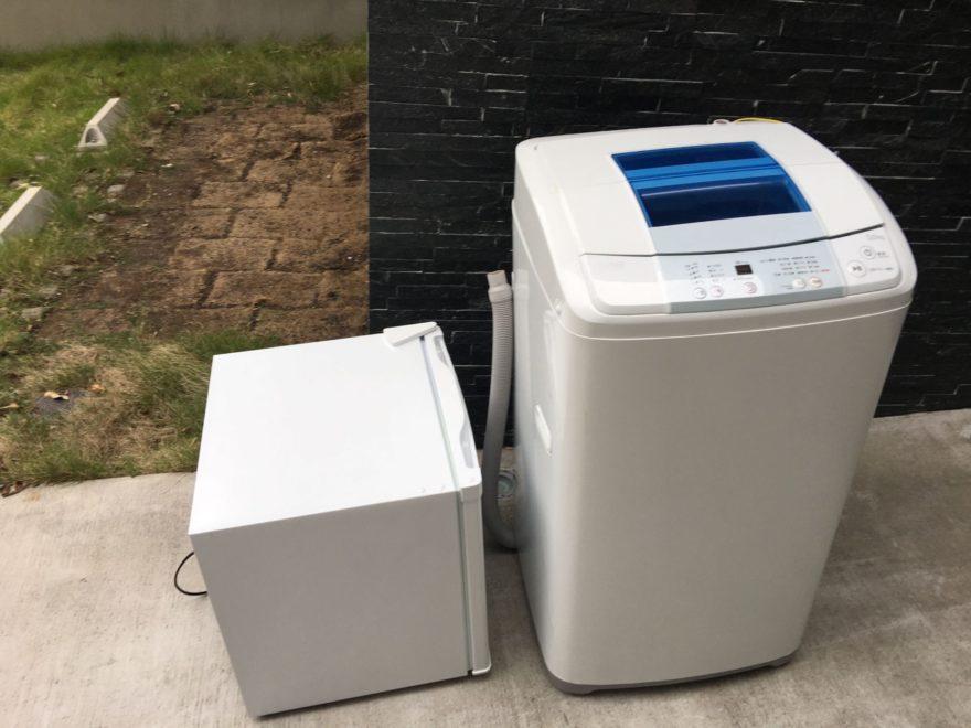 外に冷蔵庫 洗濯機