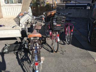 府中市 自転車 3台